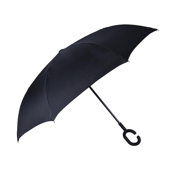 Ombrello inverso di tipo C Creativo Ombrello parasole a mano senza pioggia Ombrello pioggia rovesciato Ombrelli auto a pioggia antivento