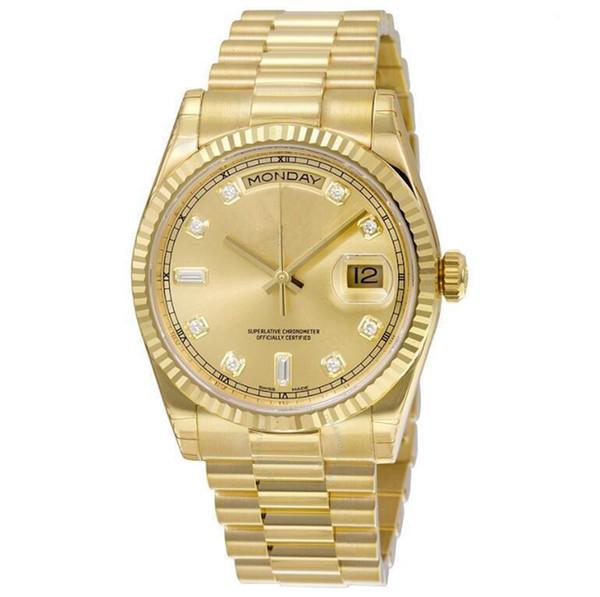 17 farben Top Qualität Luxus uhr TAG DATUM mechanische gleiten glatte 40 MM herren königliche eichen uhr edelstahl lünette armband armbanduhren