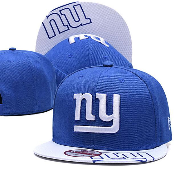 2019 Top Quality Men's NY Giants Snapback Hats Printed Visor Embroidered Logo Brands Cheap Sports Baseball Fans Hat Fashion Adjustable Caps