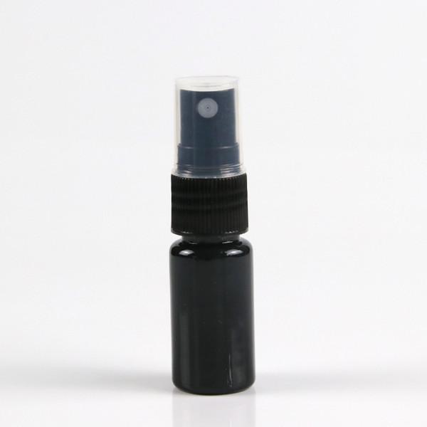best selling 20 ML Refillable Black Fine Mist Sprayer Bottle 0.66Oz Perfume Spray Bottle Cosmetic Atomizers PET Spray Bottles Pump