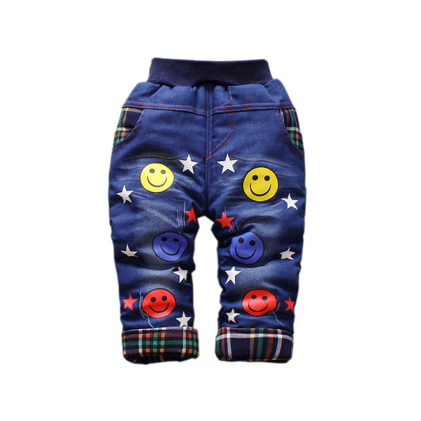 good quality 2019 Winter Warm Newborn Baby Jeans Boy Denim Pants Toddler Boys Children Clothing Cotton Jeans Pants 0-2 Years Old