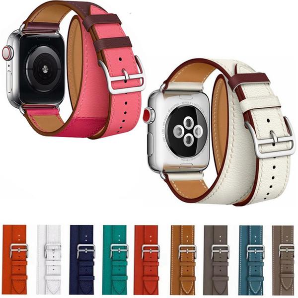 Correia da excursão da correia do bracelete do couro genuíno para a série 4/3/2 40/44mm do relógio de Apple