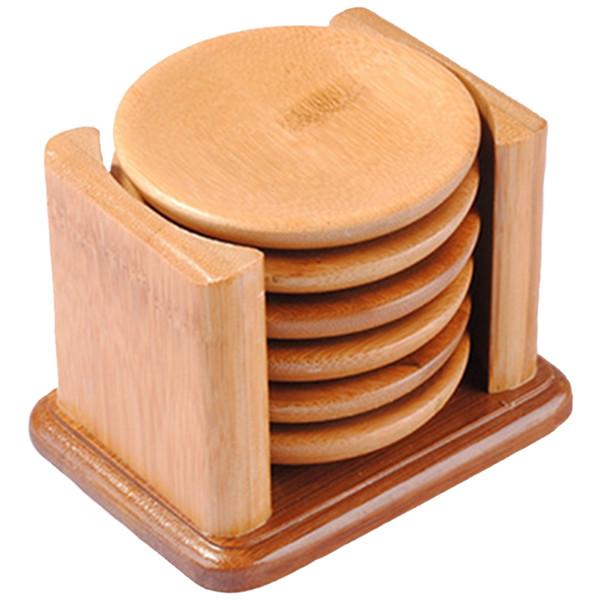 Handmade Mat Coaster Saucer Insulation Mat Table Tray Tray Bamboo pot Set Bamboo Cup Bracket Set Te