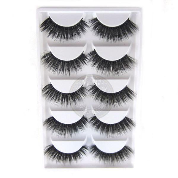 5 Pairs/set 3d False Eyelashes Thick Cross Natural Long Lashes Beauty Makeup Cosmetic Eye Lashes Extension Tools