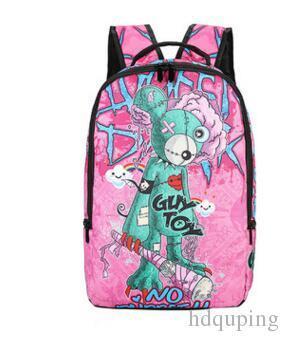Mochila de brinquedo de cara Sprayground estilo mochila de rua Mochila de rua Mochila de solo de pulverização Saco de escola de esporte Mochila de lona de dia ao ar livreMochila de lona de moda