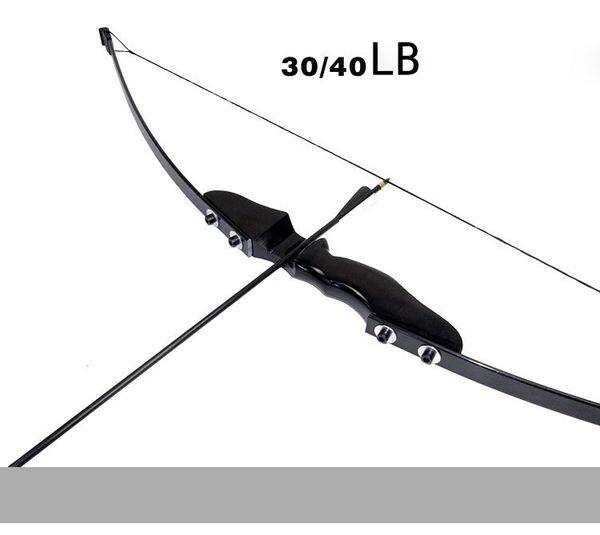 Nuovo arco ripiegato 30 / 40lbs Arco ricurvo per tiro con l'arco destro Caccia tiro con l'arco Gioco Sport all'aria aperta