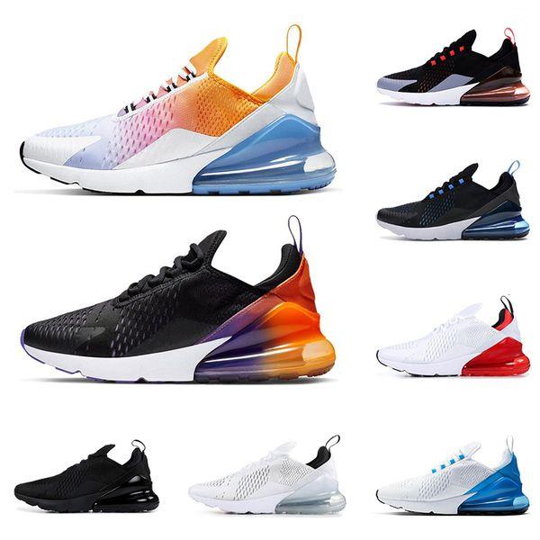 2019 nike air max airmax 270 erkekler kadınlar için koşu ayakkabıları üçlü siyah lacivert BARELY ROSE beyaz kırmızı Kaplan IŞIK KEMIK nefes erkek eğitmen spor sneakers