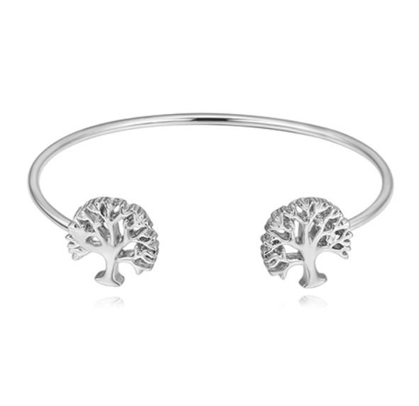 Bangles Jewelry High Quality Rhinestone Ball Bracelets Jewelry Fashion Women Luxury Gold Silver Plated Alloy Trees Bangles Wholesale LBR003