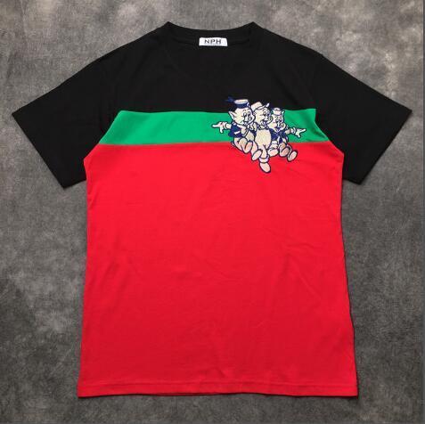 New mens Designer T Shirts Fashion Designer Mens Clothing Summer Casual Streetwear Designer T Shirt Rivet Cotton Blend Crew Neck Short Slee