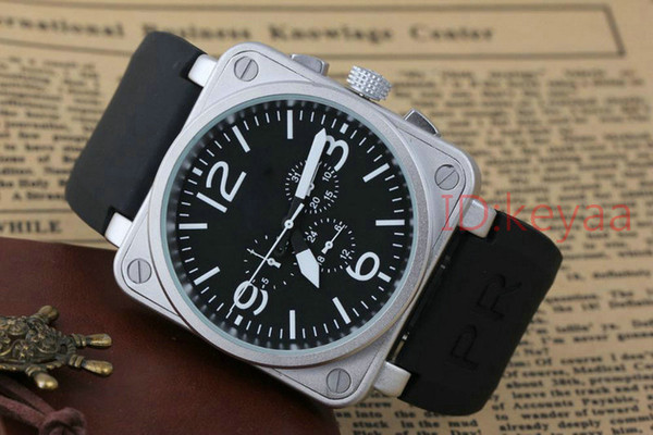 Black Designer Top luxury Fashion Mechanical Mens Stainless Steel Automatic Movement Watch Business Sports mens Self-wind Wristwatches