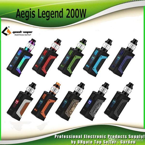 Original Geekvape Aegis Legend Starter Kits TC 200W Box Mod 4ml Aero Mesh Tank Atomizer Vape Kit 100% Authentic