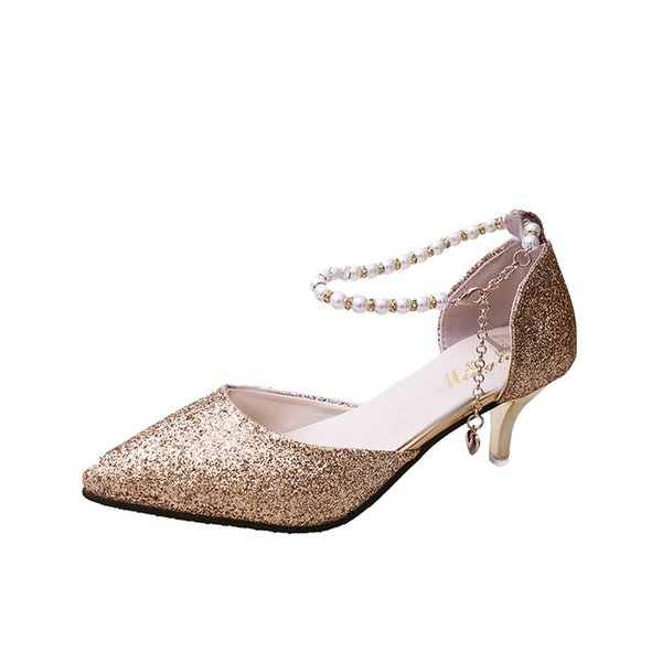 Women Pumps Shoes 2019 Spring New Printing Sequins Bling Shoes Sexy Pointed Toe Thin High Heel Party Wedding