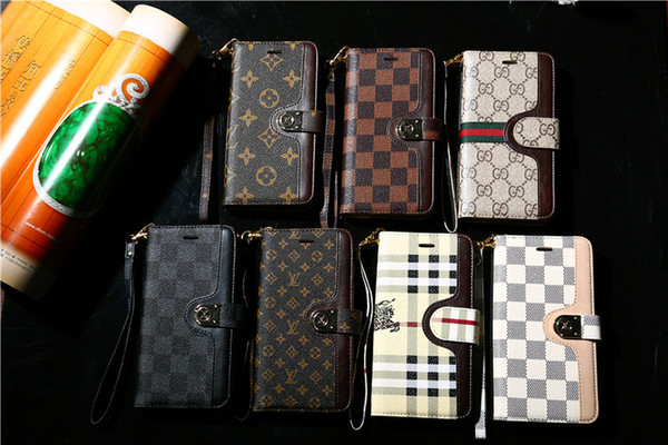 For am ung note 8 9 10 e flip wallet de igner phone ca e for iphone xr x max 7 8 plu leather phone cover with card lot