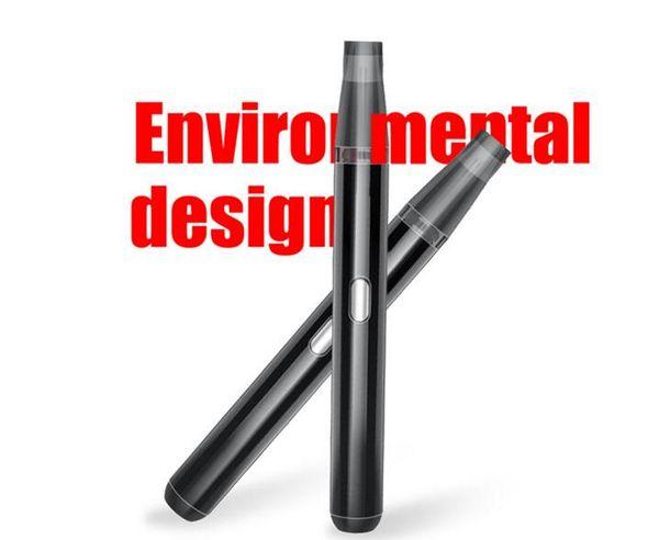 Recarregável pacote de cigarro eletrônico pod kit cartucho de cerâmica bobina de fumo caneta de fumar função de pré-aquecimento 650 mah pod mod caneta 2019 novo item