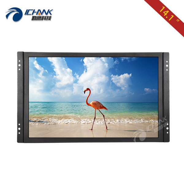ZK141TN-V59/14.1 inch 1280x800 720p HDMI HD Metal Case Embedded Open Frame Industrial Remote Control LCD Screen Display Monitor
