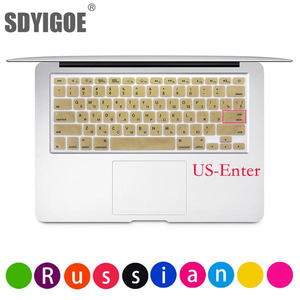 "Dustproof Film Silicone Laptop Keyboard Protective Film Waterproof For MacBook 13""15""retina Russian US Notebook Keyboard Cover"