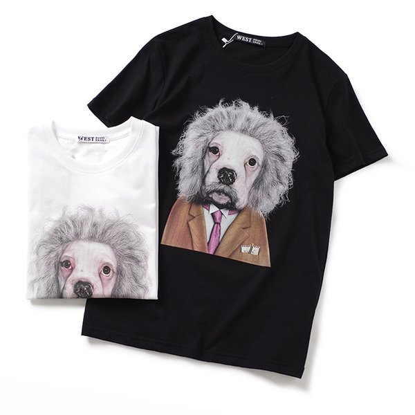 2019 latest HOT best Quality Gentleman Dog COTTON PERSONALITY HOT SELL Summer clothes Short sleeved Fashion Trend JOKER T-SHIRTS TOPS