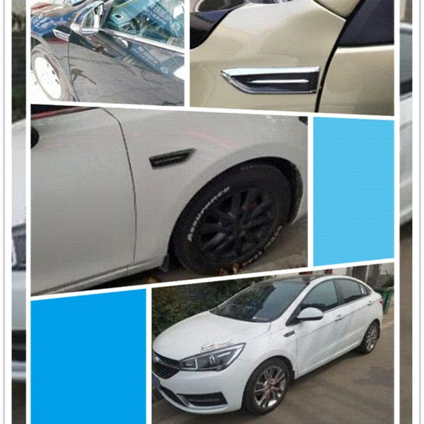 1 Pair Shark Gills Car Decorated 3D Vent Air Flow Fender Sticker Decal Automobile Engine Cover Side Stickers