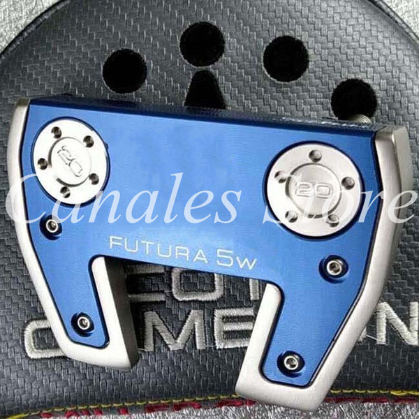 golf clubs 5#Blue Standard Push Rod with Side Hole Mark Golf Putter 32/33/34/35/36 Inch Steel Shaft With Head Cover