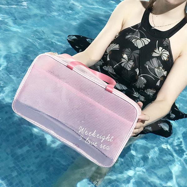 RUPUTIN Large Capacity Beach Bag Dry and Wet Separation Waterproof Bag Bath Towel Fitness Swimming Wash Bags Cosmetic