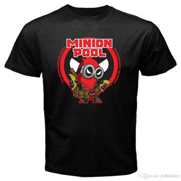 Fashion Funny Tops Tees Minion deadpool funny despicable valentine black tshirt Black T-Shirt T shirt Men's Shirt