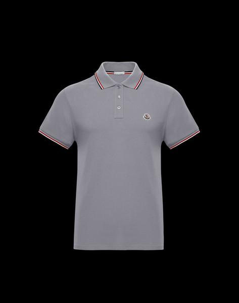 19ss nouvelle arrivée hommes haute rue Polo Shirt mode Pattern Designer noir manches courtes été droite coton polos taille masculine M-XXL