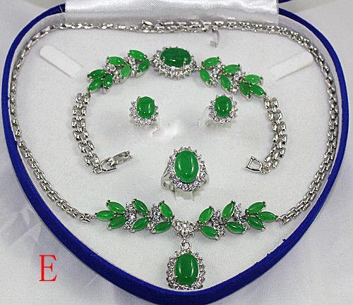 бесплатная доставка ^^^ ^ красивая женщина в моде комплект ювелирных изделий ожерелье браслет серьги кольцо + коробка