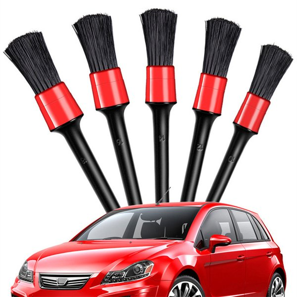 top popular 5pcs Car Wash Brush for Washing Car Interior Cleaning Wheel Gap Rims Dashboard Air Vent Trim Detailing Tool 2021