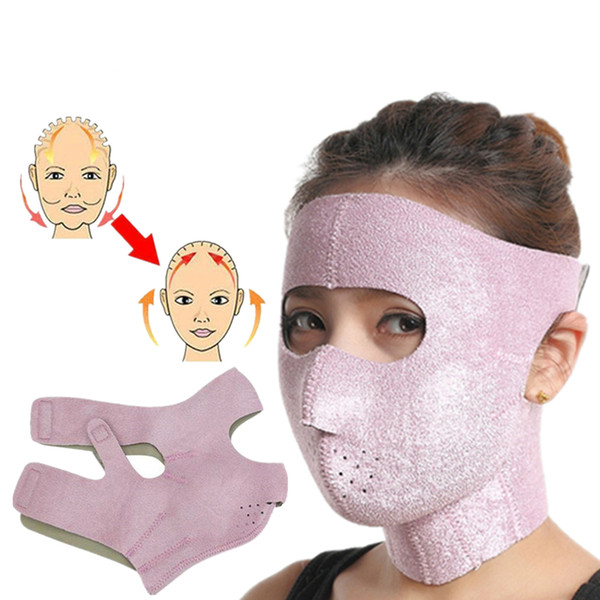 top popular 3D Small Face V Shaped Slimming Mask Full Face Shaper Lifting Firming Thin Masseter Facial Beauty Care Tool 2021