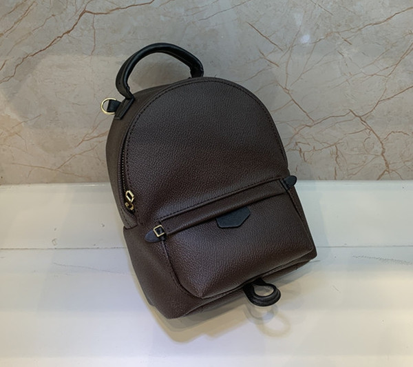 top popular Free shipping!Fashion Palm Springs Backpack Mini genuine leather children backpack women printing leather 41562 2020