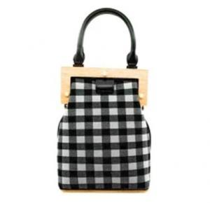 Bolso de hombro de tela escocesa de las mujeres bohemio Retro Clip de madera Cubo Messenger Bag Lujo Bolso de noche Embrague Monedero Bolsas de almacenamiento GGA1484