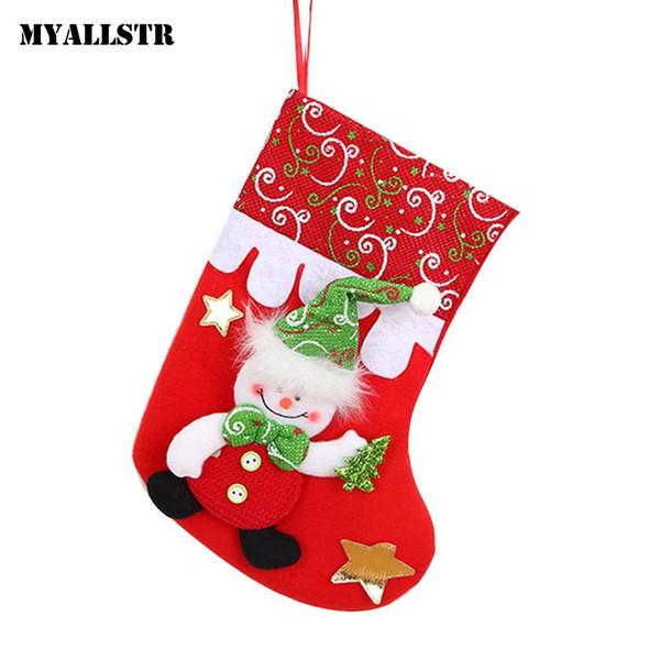 Bear Christmas Stocking.Socks Reindeer Santa Bear And Reindeer Christmas Stocking Tree Patchwork Claus Ornaments Snowman Santa Bag Hanging Christmas Decorative Items