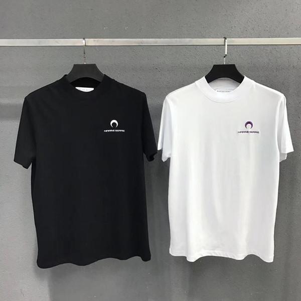 Neue Marine Serre T Shirt Männer Frauen 1: 1 Hohe Qualität Half Moon Stickerei T Shirts Tees Mode Lässig Marine Serre T-shirt