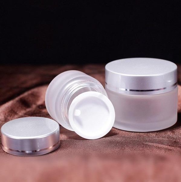 30g Frosted glass jars, 30ml frost cream jars, 1 oz glass cosmetic skin care cream bottles 100pcs