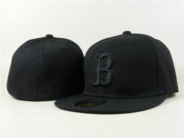 RedSox Gömme B Harf Beyzbol şapkası İşlemeli B takımı Harf Boyut Düz Brim Şapka RedSox Beyzbol Cap Boyutu Caps
