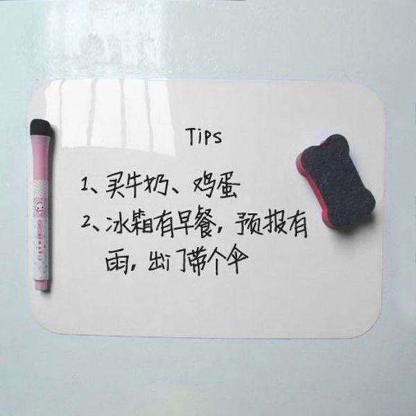 Acehe 21*15cm Waterproof Whiteboard Writing Board Magnetic Fridge Erasable Message Board Memo Pad Drawing Home Office