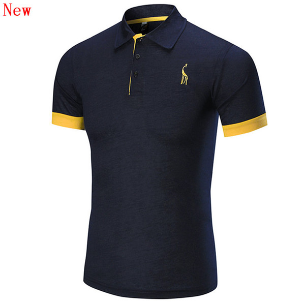 Free Shipping New High Quality Men's Embroidery Polo Shirt For Men Designer Polos Cotton Short Sleeve shirt Brands WN16