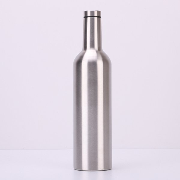 750 ML Vakuum Rotweinflasche 4 Farben Edelstahl Flasche Doppel Wände Isolierte Bier Weingläser Große Kapazität Wasserflasche glaskolben