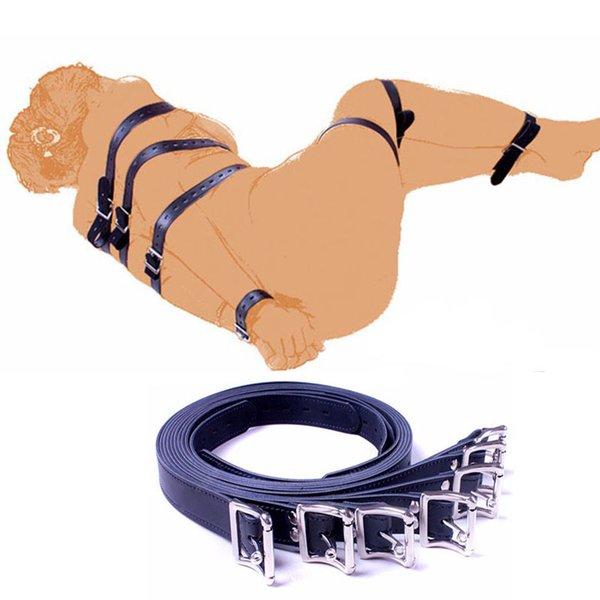 7 PCS sets of belts of different lengths, bandaged leather body belt sets, BDSM bundled adult toys for couples
