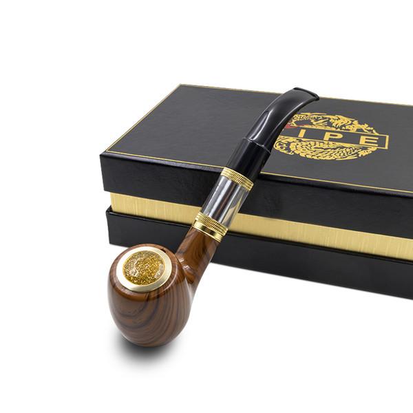 e Pipe 618 epipe vape Kit electronic smoking pipe with wooden mod 2.5ml atomizer 18350 battery Electronic Cigarette vapor kit