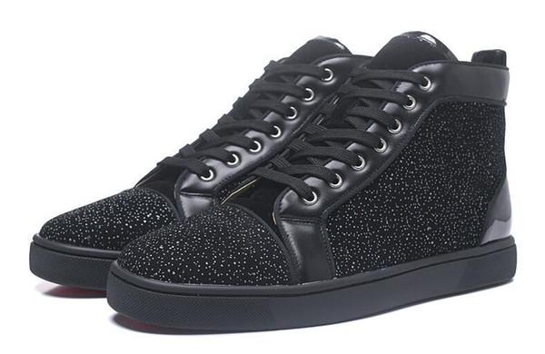 Spikes High Top Red Bottom Pik Pik Studded Sneakers Zapatos Mujeres Hombres Diseñador de lujo Flat Casual Suela roja Otoño Invierno Casual