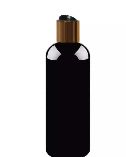 500ml schwarze leere Plastikshampoo-Flaschen mit Kappen DIY Lotion PET-Flasche mit Goldkappe, transparente Kosmetikverpackung 60St