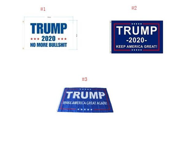best selling Trump Flag 2020 Keep America Great Again Banner Decor President USA Donald Trump Election No More Bullshirt Flag 3*5 feet 90*150cm SN1656