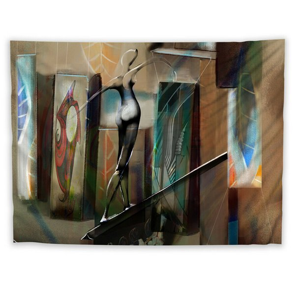 Abstract Painting Wall Hanging Tapestry Psychedelic Bedroom Home Decoration