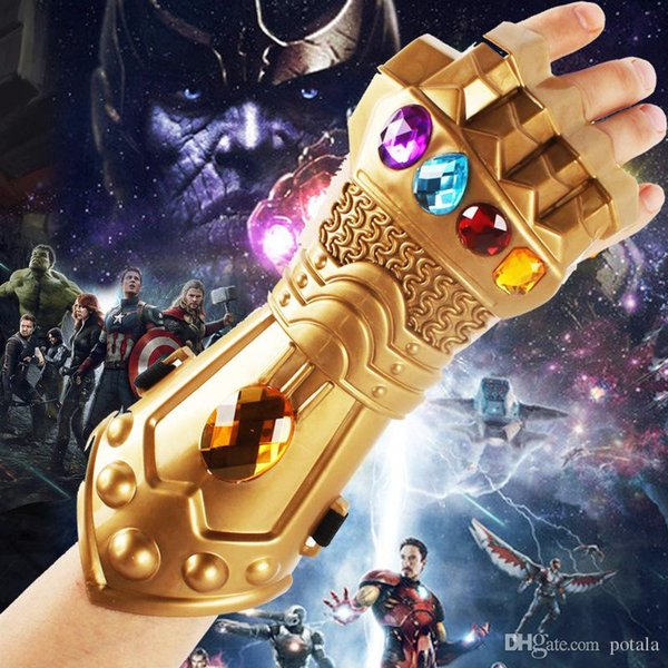 Avengers 3 Infinity War Thanos Infinity Gauntlet Gloves Halloween Xmas New  Year Party Cosplay Movie Games Novelty Prop Funny Fighting Golden Most