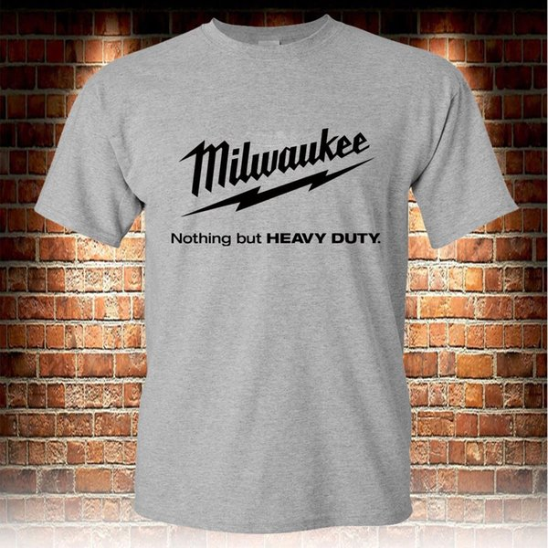 Milwaukee Tools Grey T-shirt Men's Size S to 3XL Style Round Style tshirt Tees Custom Jersey t shirt hoodie hip hop t-shirt
