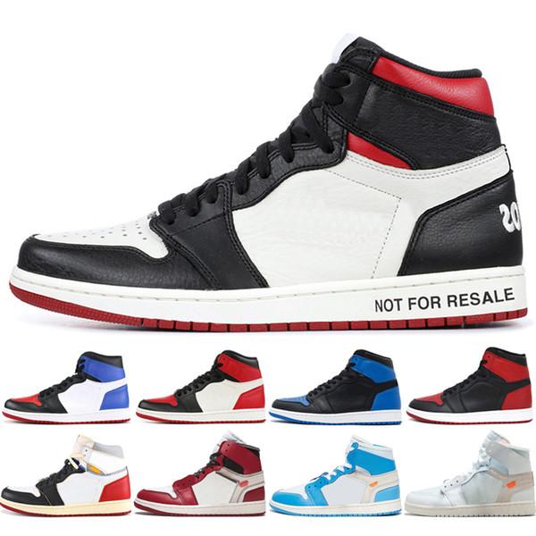Yeni OG 1 üst 3 Erkekler Basketbol Ayakkabı Chicago Bred Yasaklı Siyah Ayak Kraliyet Mavi Ev UNC 1 s mens homage spor sneakers tasarımcı eğitmenler