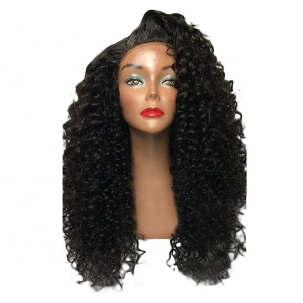 Fast Shipping Kinky Curly Brazilian Human Hair Lace Front Wig In Stock