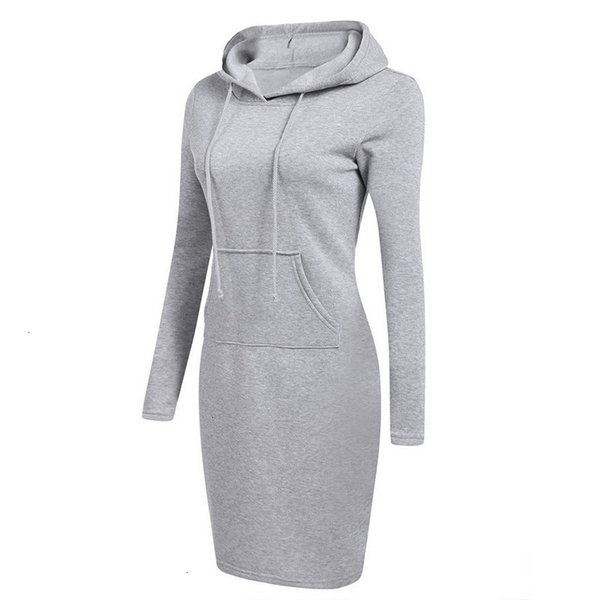 Женских платья женщины Дизайнер одежда Мода капюшон Drawstring Руно осень зима платье Vestidos Толстовка Твердого платье Дизайнер одежда