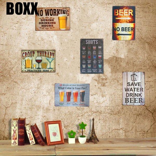 Vintage Metal Tin Sign Prints Poster Wall Art Plaque for Pub Bar Tavern Beer
